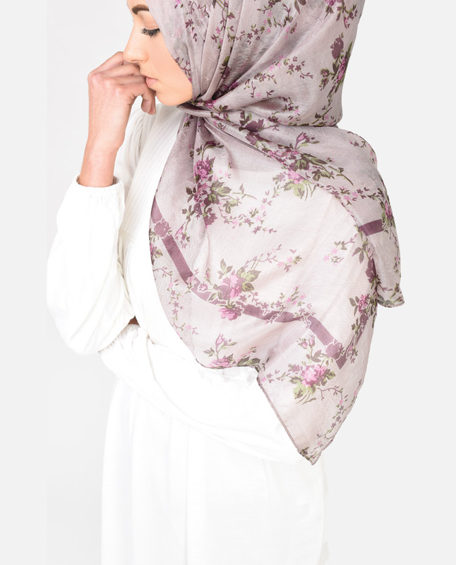 Lavender Dreams Silk Hijab