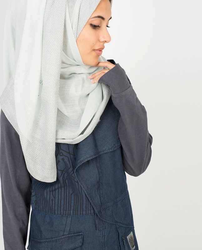 Grey and Silver Hijab