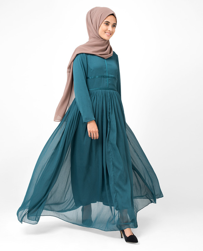 The Real Teal Abaya