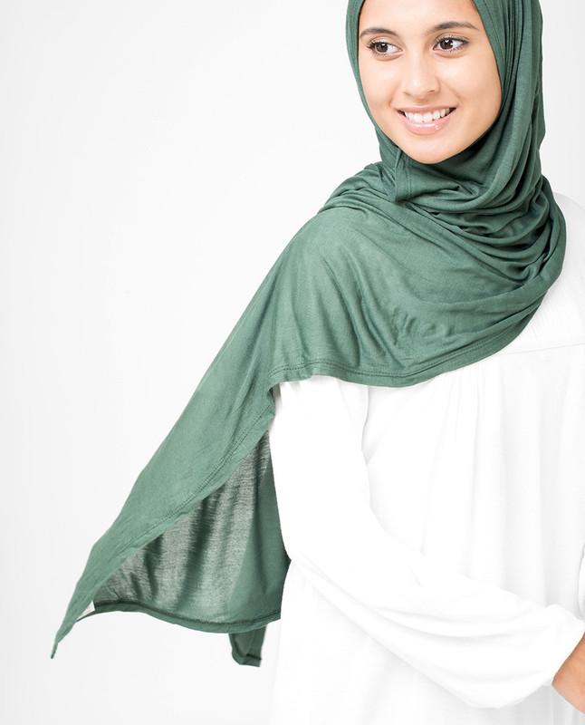 Dark Forest Viscose Jersey Hijab