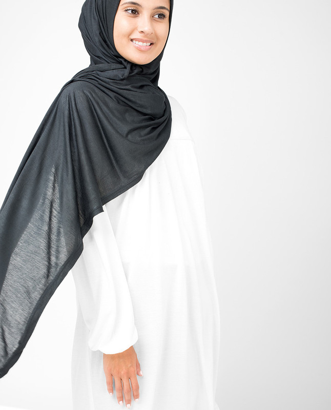Dark Shadow Viscose Jersey Hijab