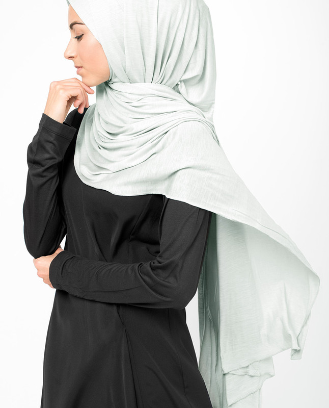 Glacier Grey Viscose Jersey Hijab
