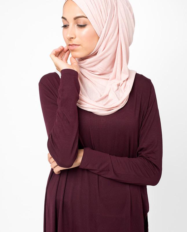 Misty Rose Viscose Jersey Hijab