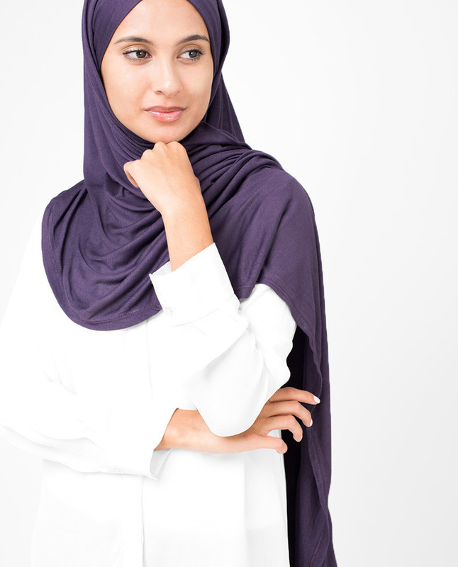 Mulled Grape Viscose Jersey Hijab