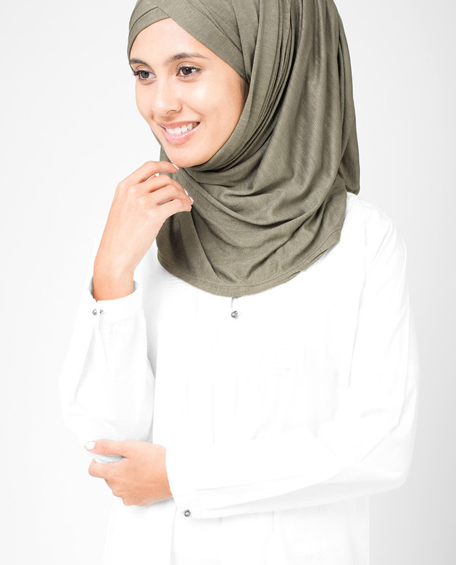 Olive Night Viscose Jersey Hijab