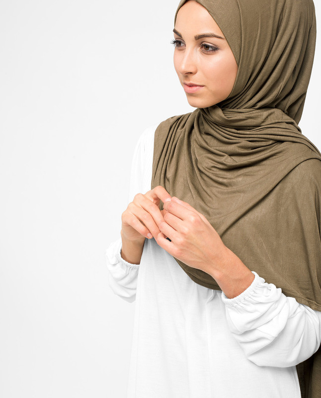 Pine Bark Viscose Jersey Hijab