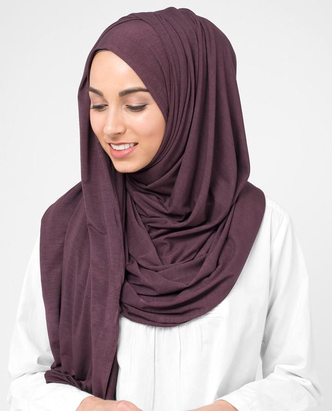 Plum Wine Viscose Jersey Hijab