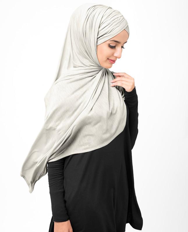 Silver Grey Viscose Jersey Hijab