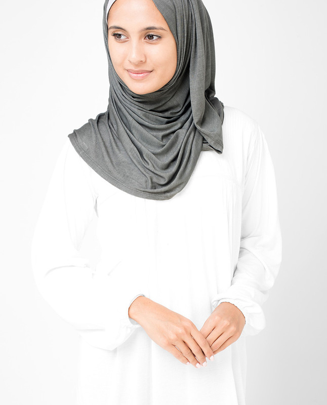 Smoked Pearl Viscose Jersey Hijab