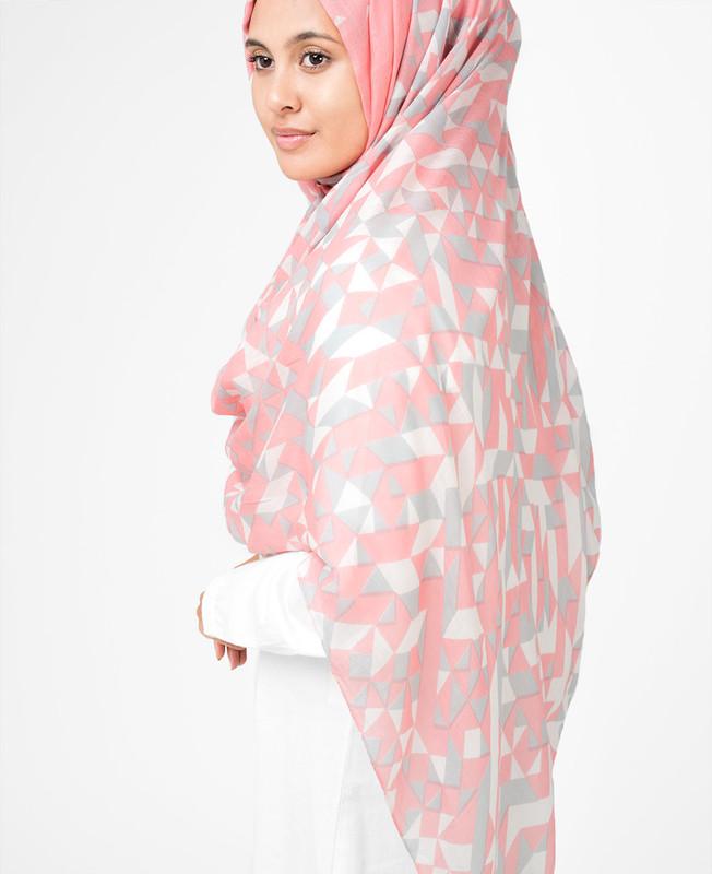 White Pink Hijab