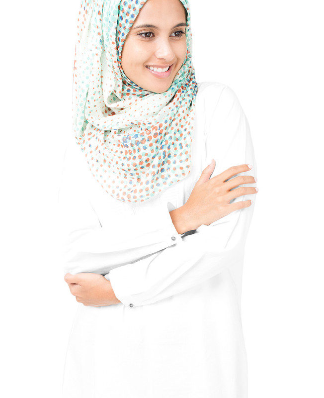 Flamingo White Hijab
