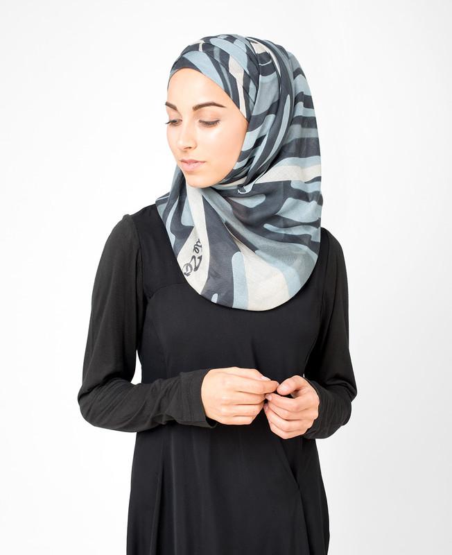 Grey Violet Hijab