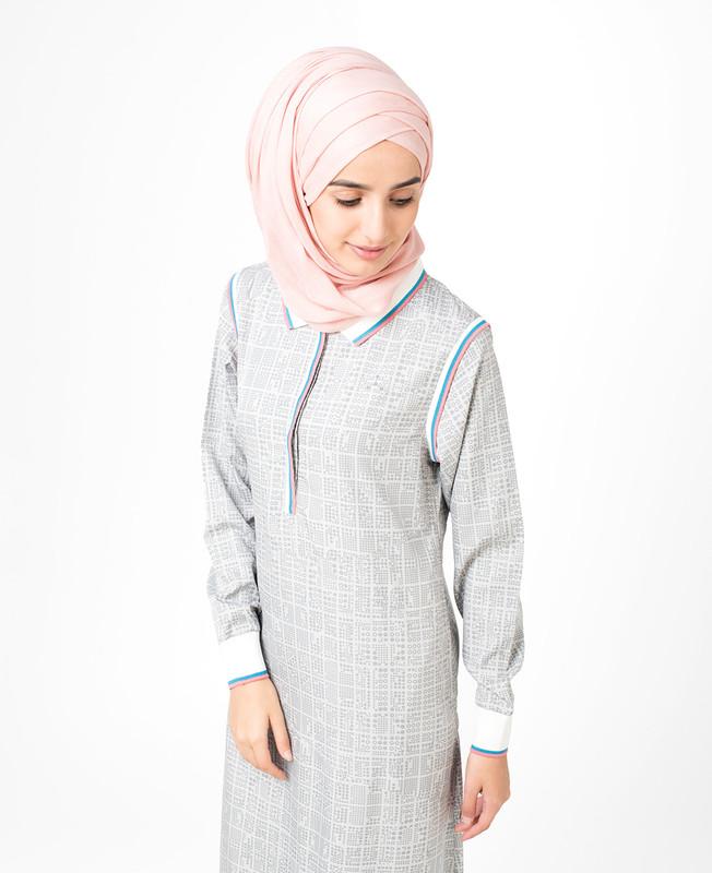 Grey Checked Jilbab