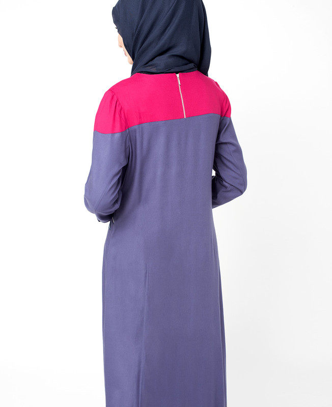 Colour Block Jilbab