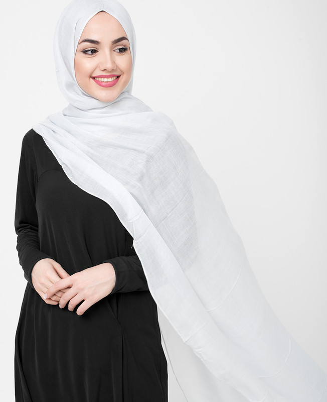 Pinless Glacier Grey Viscose Hijab
