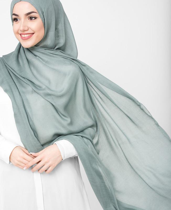 Pinless Monument Grey Viscose Hijab