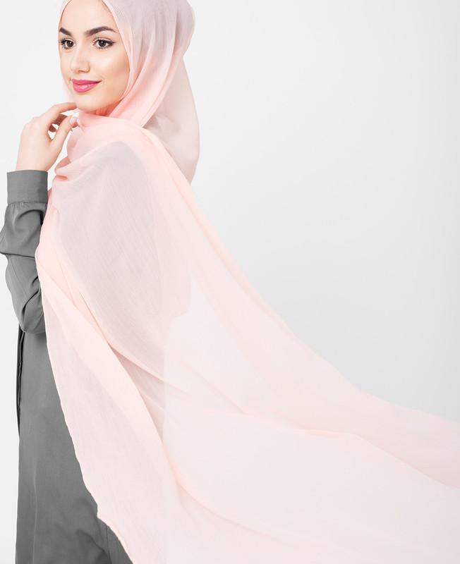 Mellow Rose Pink Pinless PolyChiffon Hijab