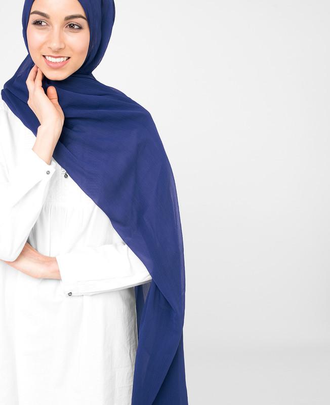 Patriot Blue Pinless PolyChiffon Hijab