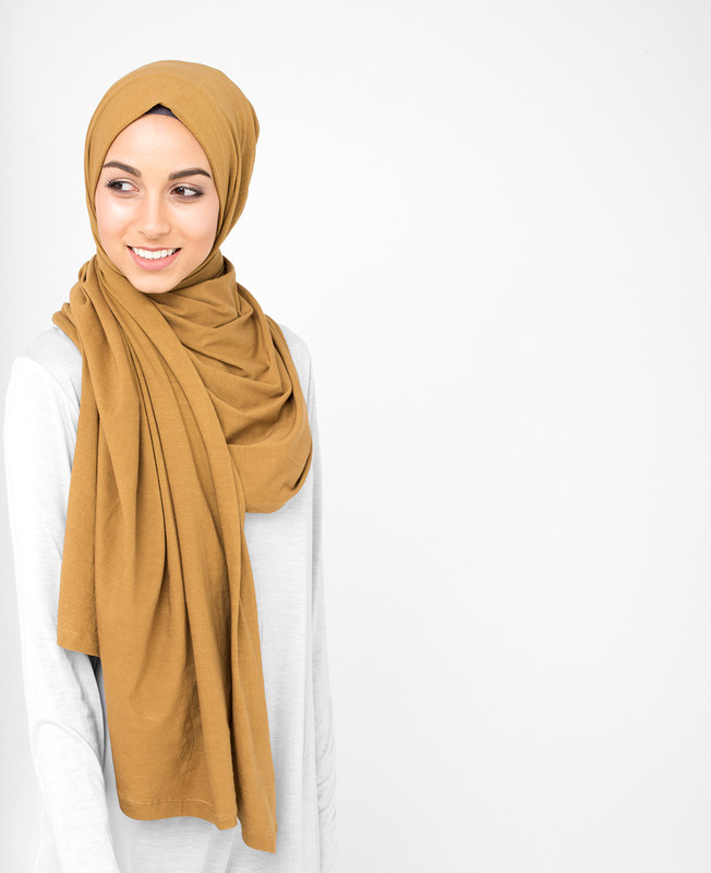 Cumin Yellow Cotton Jersey Hijab