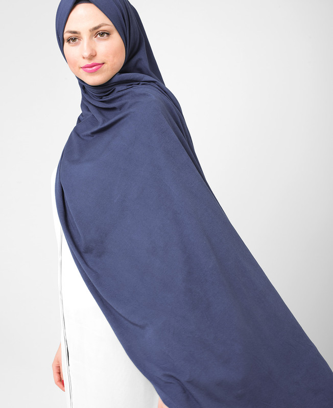 Majolica Turquise Blue Cotton Jersey Hijab