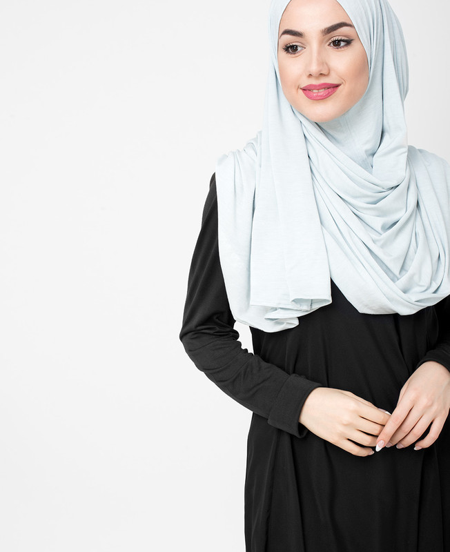 Glacier Grey Pinless Viscose Jersey