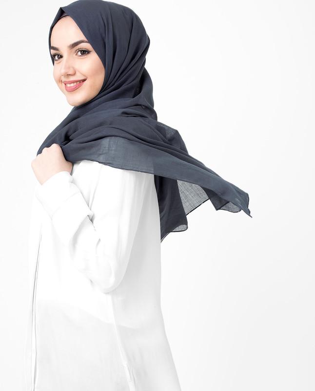 Moon Indigo Blue Cotton Voile Hijab