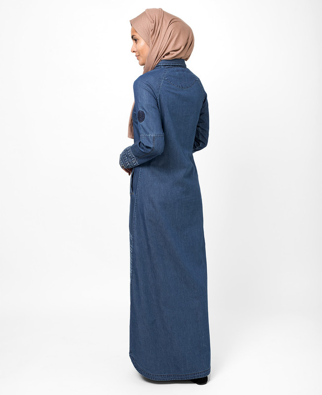Blue Denim Shirt Jilbab