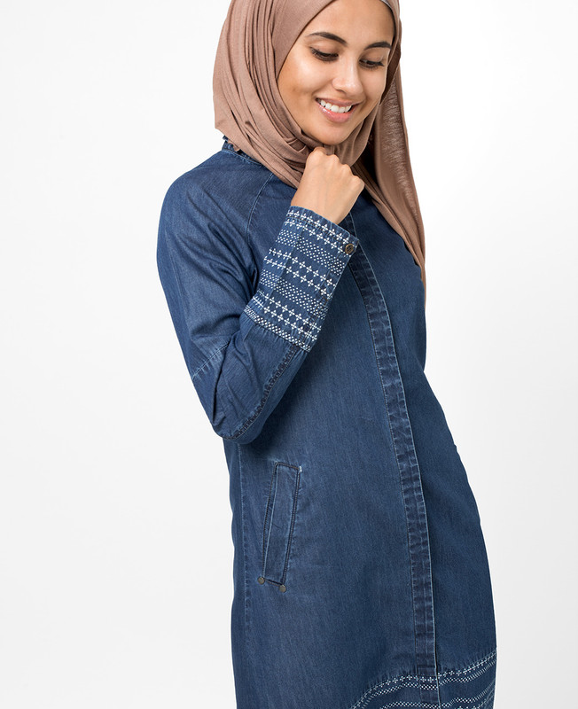 Blue Denim Shirt Jilbab