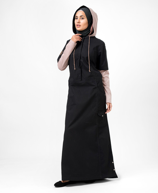 Black Sea Hooded Jilbab
