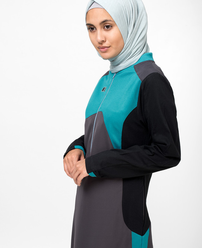 Tri Coloured Abaya