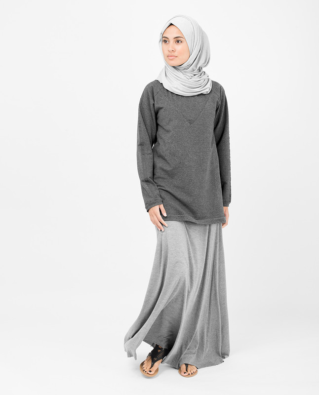 Dark Grey Cotton Top