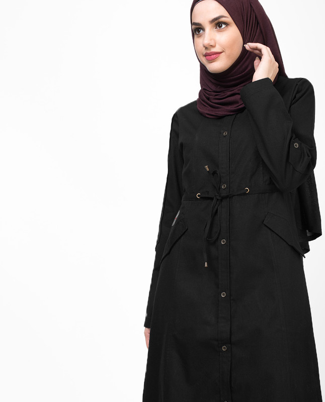 Long Black Shirt Jilbab