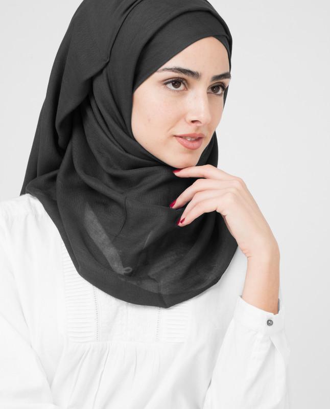 Black Viscose Hijab