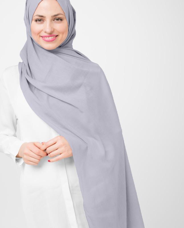 Dapple Gray Cotton Voile Hijab