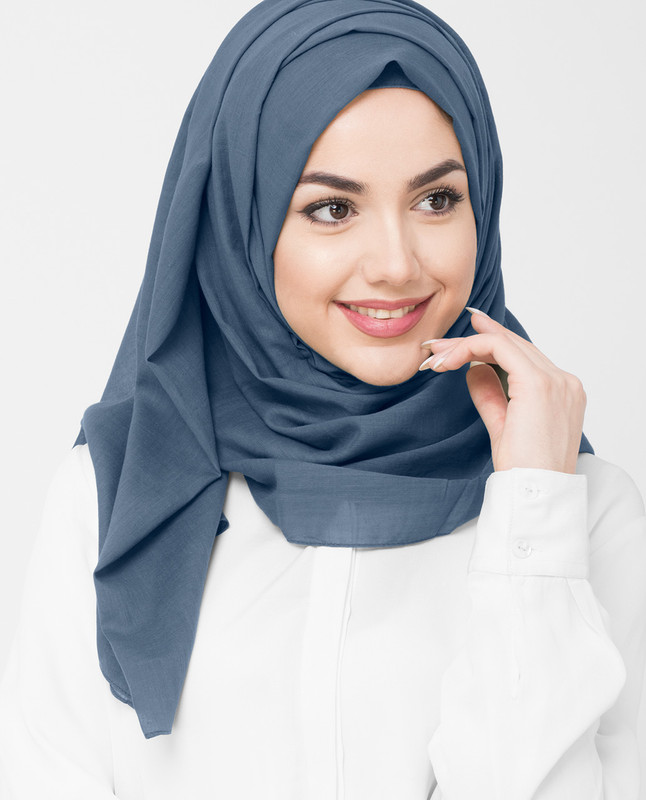 Indian Teal Cotton Voile Hijab