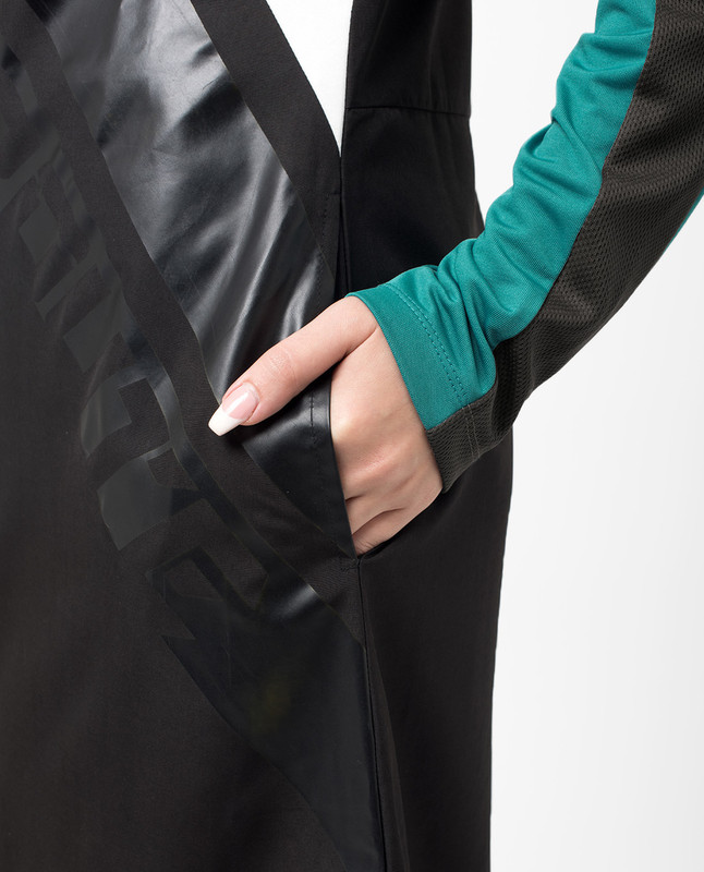 Sports Performance Black and Grey Jilbab
