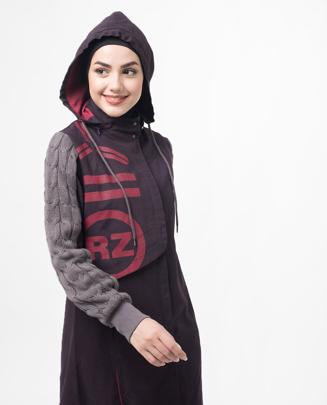 Winter Games Knit and Mac Printed Jilbab