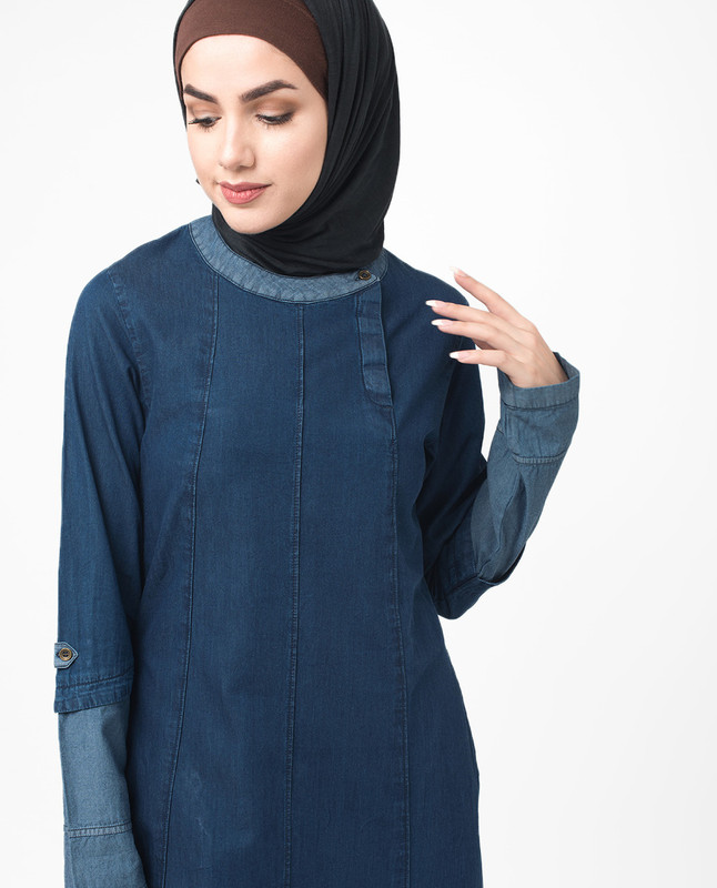 Soft Fine Denim Urban Jilbab