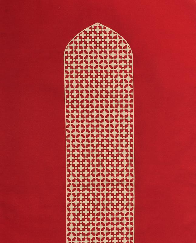 Mashrabiya arch-shaped prayer mat rug