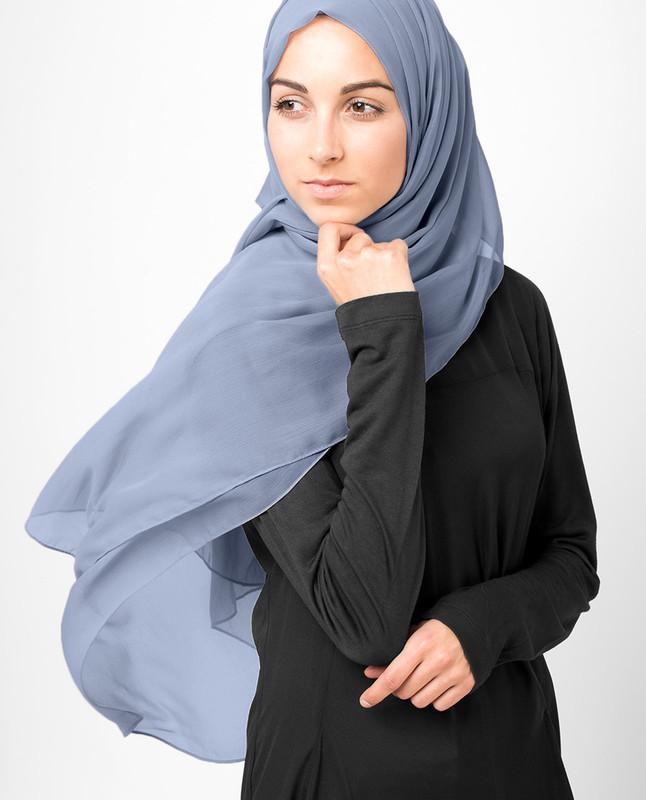 Eventide Blue PolyChiffon Hijab