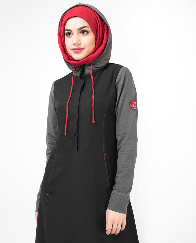 Black Hooded Jilbab