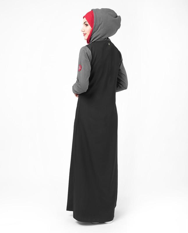 Black Hooded Jilbab