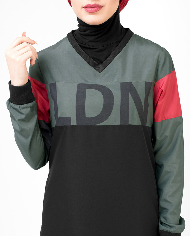 The LDN Print Black Jilbab