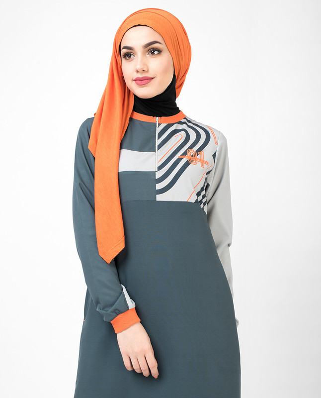 Dark Grey 01 Active Jilbab