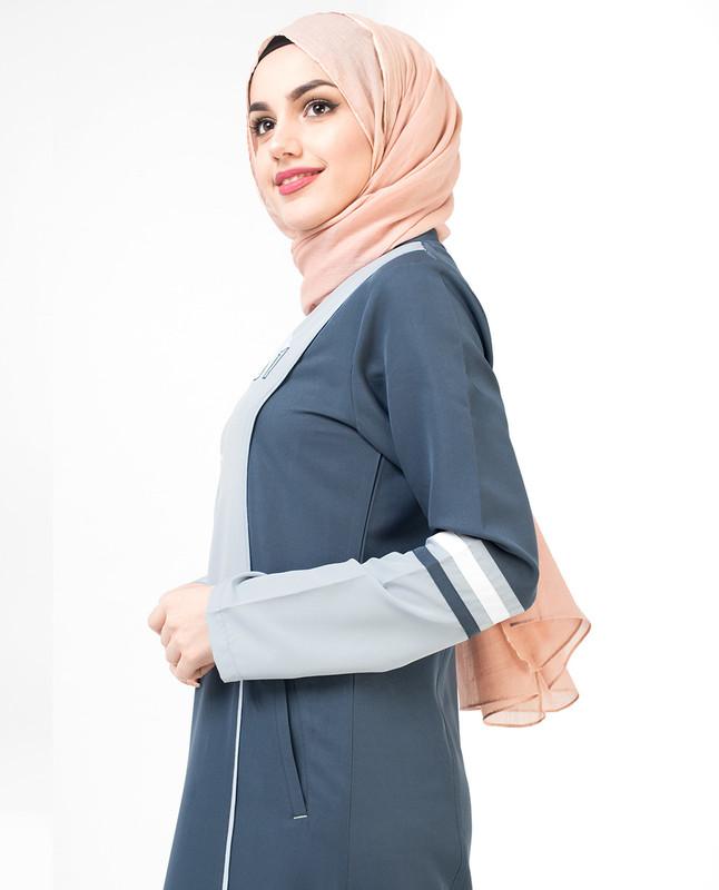 Tonal Blue Sports Jilbab