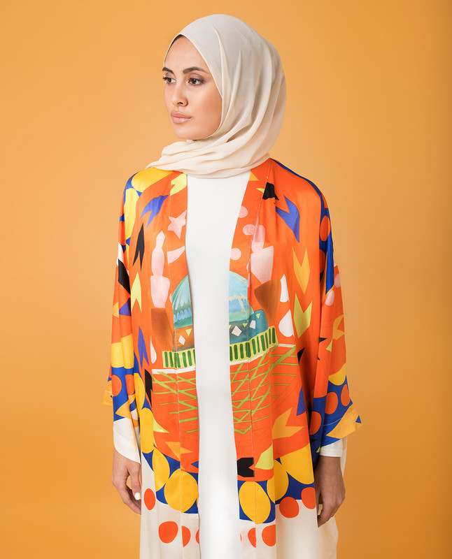 Sunset Silk Abaya