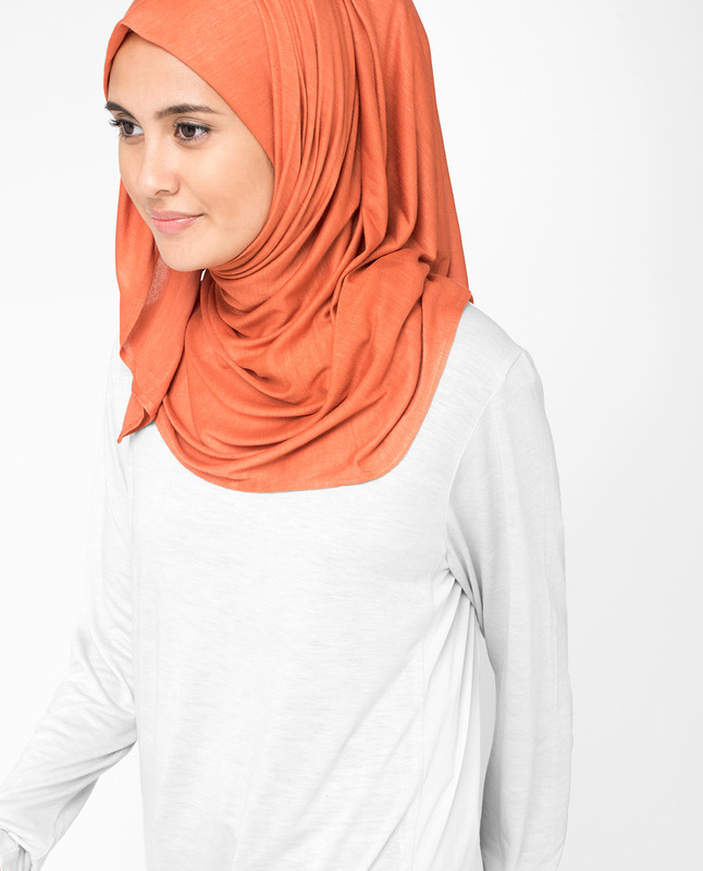Mango Orange Viscose Jersey Hijab