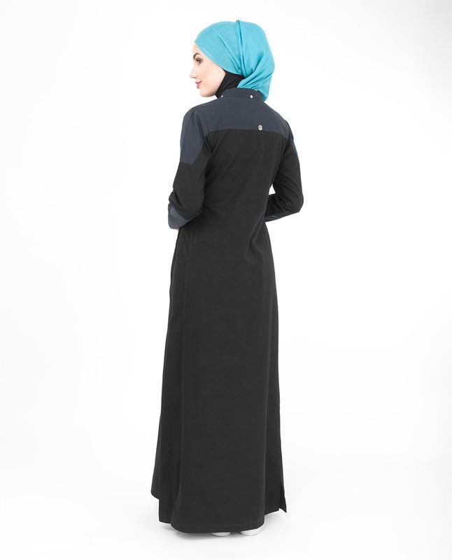 Black & Blue Hood Jilbab