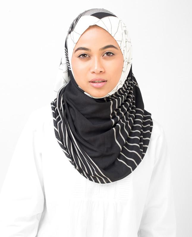 Black Contour Viscose Jersey Hijab