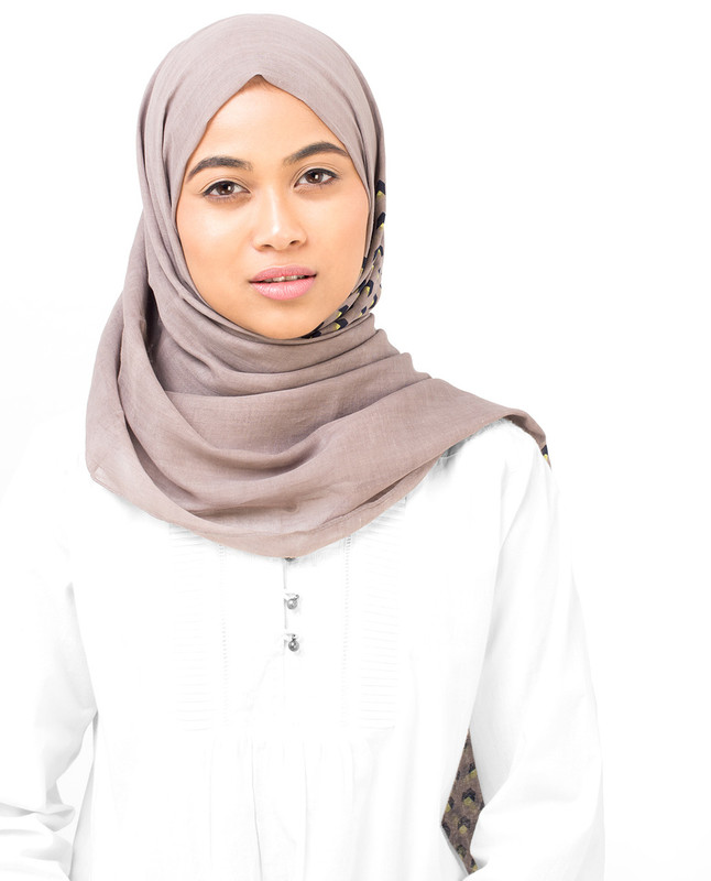 Geo Cube Cotton Voile Hijab